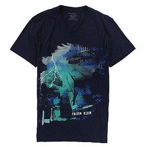 Camiseta Calvin Klein Masculina Bolt Tee - Navy