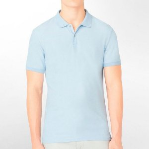 Polo Calvin Klein Masculina CK Piquet Polo - Light Blue