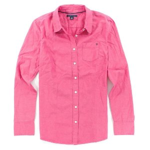 Camisa Tommy Hilfiger Feminina Solid - Pink