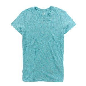 Camiseta Armani Exchange Feminina Basic Crew Neck Tee - Sky