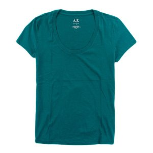 Camiseta Armani Exchange Feminina Basic Scoopneck Tee - Ocean Teal