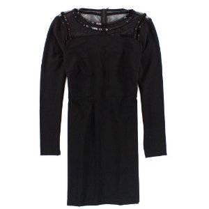 Vestido Armani Exchange Feminina Dark Shiny Dress - Black