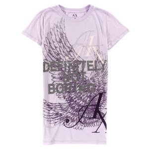 Camiseta Armani Exchange Feminina Definitely Not Boring Tee - Light Purple