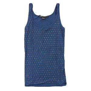 Blusinha Armani Exchange Feminina Dots Tank - Blue Jeans
