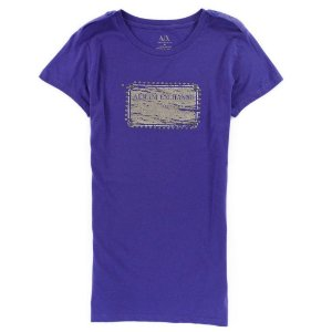 Camiseta Armani Exchange Feminina Metal Plate Tee - Purple