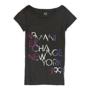 Camiseta Armani Exchange Feminina New York Tee - Grey