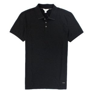Polo Calvin Klein Masculina Extreme Slim Fit Polo - Black