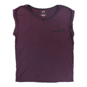 Blusinha Armani Exchange Feminina Pocket Tee - Dark Merlot