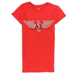 Camiseta Armani Exchange Feminina Principal logo Tee - Orange