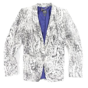 Blazer Armani Exchange Feminina Printed Casual Blazer - White