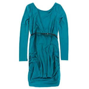 Vestido Armani Exchange Feminina Scoopneck Belt-In Dress - Ocean Teal