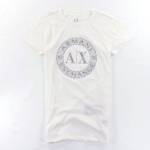 Camiseta Armani Exchange Feminina Shiny Circle Tee - White