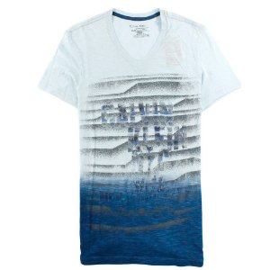 Camiseta Calvin Klein Masculina Graphic V-Neck Tee - Light Blue