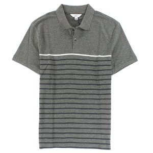 Polo Calvin Klein Masculina Multicolored Stripe Polo - Grey