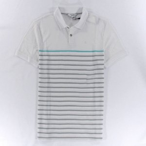 Polo Calvin Klein Masculina Multicolored Stripe Polo - White