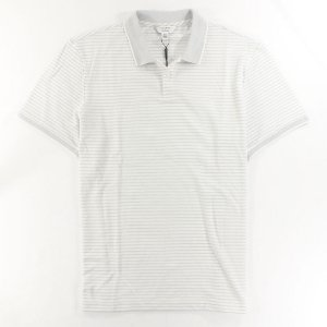 Polo Calvin Klein Masculina Striped Piquet Polo - White