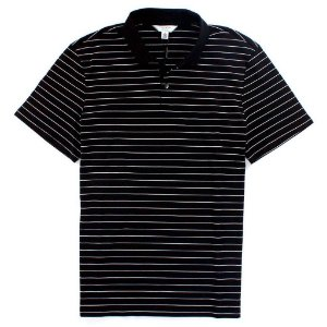 Polo Calvin Klein Masculina Striped - Black