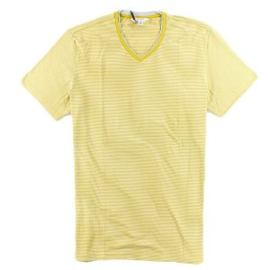 Camiseta Calvin Klein Masculina Striped V-Neck Tee - Lime