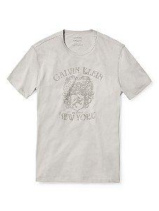 Camiseta Calvin Klein Masculina Velvet Arms Tee - Grey