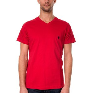 Camiseta U.S. Polo Assn. Masculina V Neck - Red