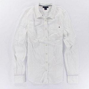 Camisa Tommy Hilfiger Feminina Solid - White