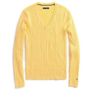 Sweater Tommy Hilfiger Feminina Solid - Yellow