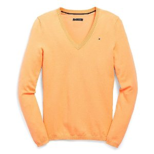 Sweater Tommy Hilfiger Feminina Solid - Orange