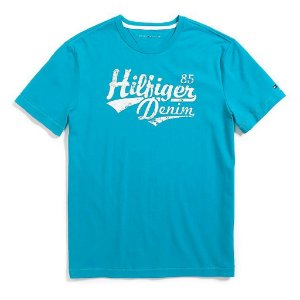 Camiseta Tommy Hilfiger Masculina 85 Denim Tee - Turquoise