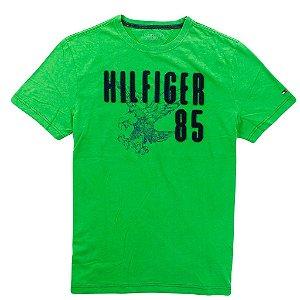 Camiseta Tommy Hilfiger Masculina Classic Fit Logo - Green