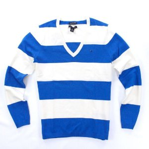 Sweater Tommy Hilfiger Feminina Striped - Blue