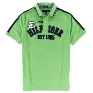 Polo Tommy Hilfiger Masculina Custom Fit Crest H - Green