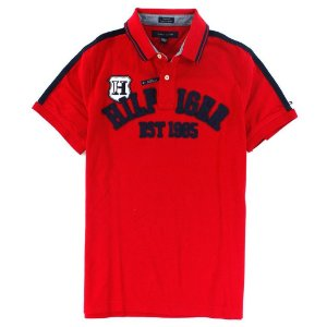 Polo Tommy Hilfiger Masculina Custom Fit Crest H - Red