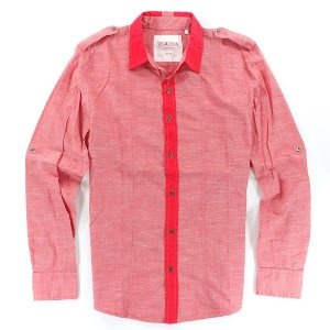 Camisa Guess Masculina Civil Plain Slub Poplin - Summer Love Pink