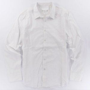 Camisa Guess Masculina Deren Plain Poplin - White