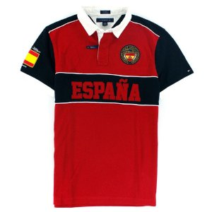 Polo Tommy Hilfiger Masculina España World Edition - Red