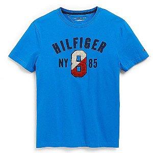 Camiseta Tommy Hilfiger Masculina Hilfiger 8 Graphic - Blue