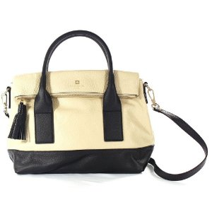 Bolsa Kate Spade Carmen Southport Avenue Bag - Beige and Black