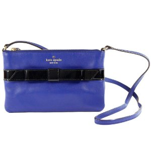 Bolsa Kate Spade Janelle Leather Crossbody Bag - Ivy Blue