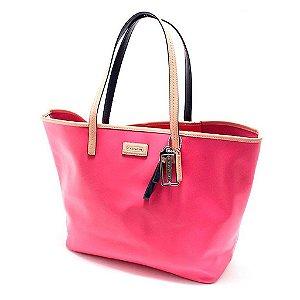 Bolsa Coach Parker Metro Leather Tote Bag - Pomegranate