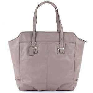 Bolsa Coach Taylor Leather North Tote Bag - Putty