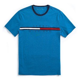 Camiseta Tommy Hilfiger Masculina Hilfiger Logo - Blue