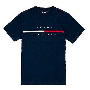 Camiseta Tommy Hilfiger Masculina Hilfiger Logo  - Navy