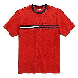 Camiseta Tommy Hilfiger Masculina Hilfiger Logo - Red