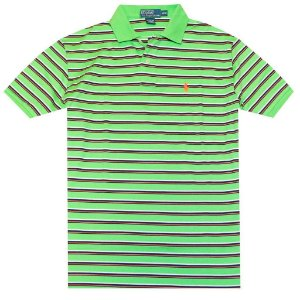 Polo Ralph Lauren Masculina Classic Fit Striped Pony Polo - Orlando Green