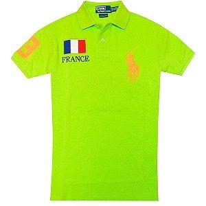 Polo Ralph Lauren Masculina Countries Custom Piquet Polo - Green