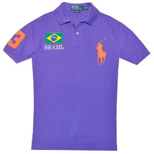 Polo Ralph Lauren Masculina Countries Custom Piquet Polo - Purple
