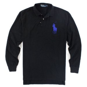 Polo Ralph Lauren Masculina Long Sleeve Big Pony Polo - Black