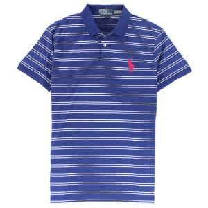 Polo Ralph Lauren Masculina Medium Pony Striped Polo - Navy