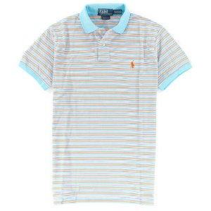 Polo Ralph Lauren Masculina Striped Custom Mesh Piquet Polo - Turquoise