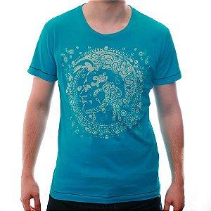Camiseta Diesel Masculina Bandan Tee - Turquoise